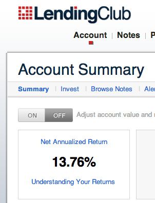 Lending Club NAR - Net Annualized Return